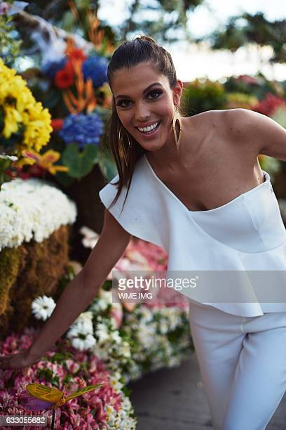 Miss Universe France Iris Mittenaere visits Baguio in the Philippines on January 18 2017 Miss France was crowned as the new Miss Universe 2016 at The...