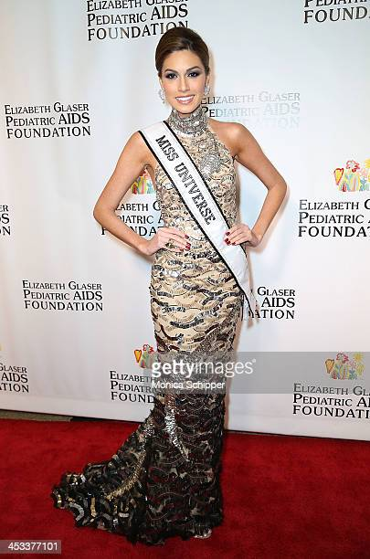 Miss Universe Gabriela Isler attends the Elizabeth Glaser Pediatric AIDS Foundation's 25th Anniversary Gala at Best Buy Theater on December 3 2013 in...