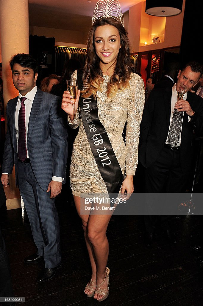 Miss Universe GB 2012 Holly Hale attends 'A Night of Sporting Gold' hosted by bespoke tailor Apsley at their Pall Mall showroom on May 9, 2013 in London, England.