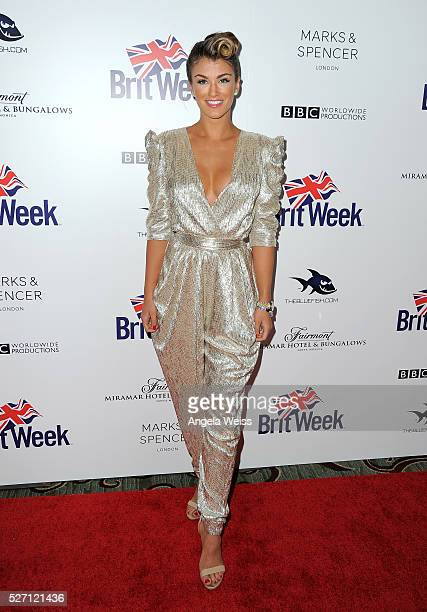 Miss Universe Great Britain Amy Willerton attends BritWeek's 10th Anniversary VIP Reception Gala at Fairmont Hotel on May 1 2016 in Los Angeles...