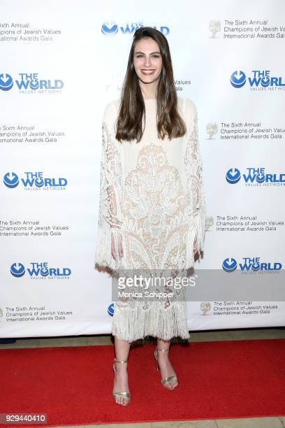 Miss Universe Israel Adar Gandelsman attends the 2018 World Values Network Champions of Jewish Values Awards Gala at The Plaza Hotel on March 8 2018...