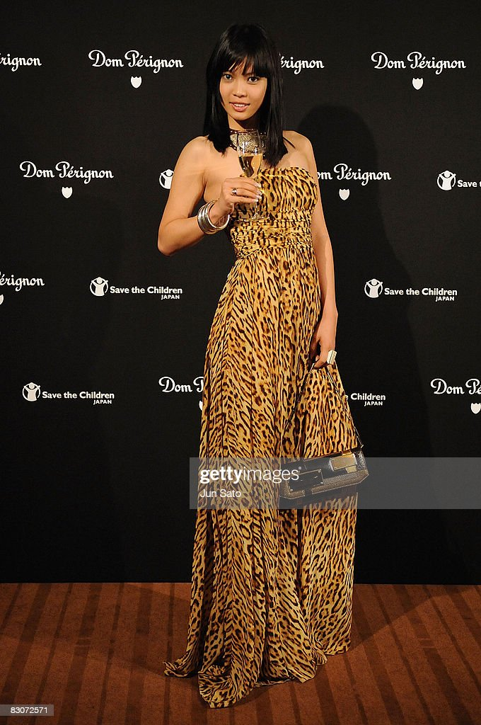 Miss Universe Japan 2008 Hiroko Mima attends Dom Perignon