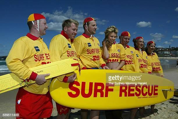 Miss Universe Jennifer Hawkins visits North Bondi Surf Life Saving Club on 12 September 2004 SMH NEWS Picture by ROBERT PEARCE