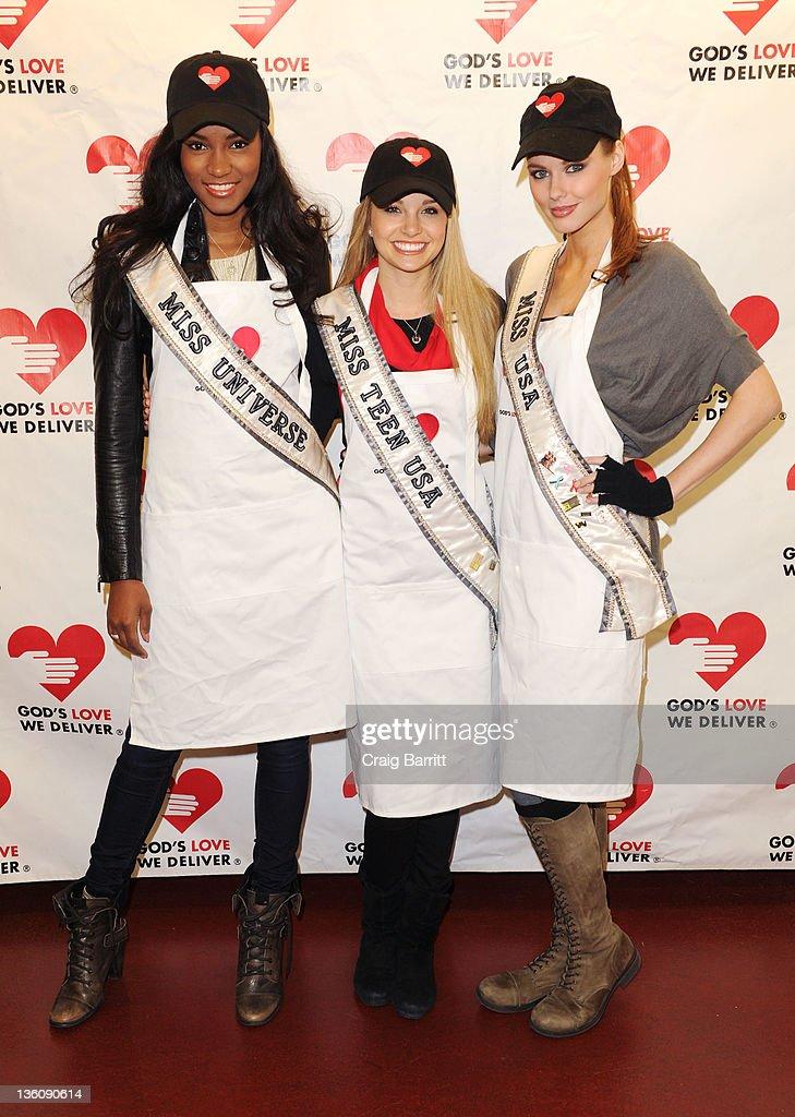 Miss Universe, Miss USA & Miss Teen USA Deliver Meals For God's Love We Deliver