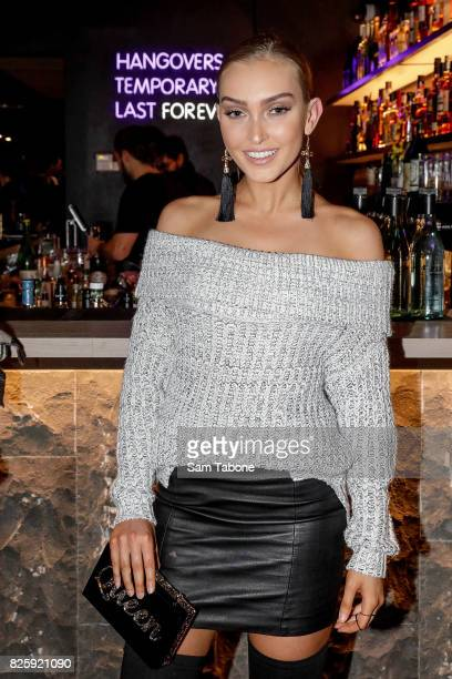 Miss Universe Model Letitia Sindt arrives ahead of the Sash Japanese VIP Launch Event on August 3 2017 in Melbourne Australia
