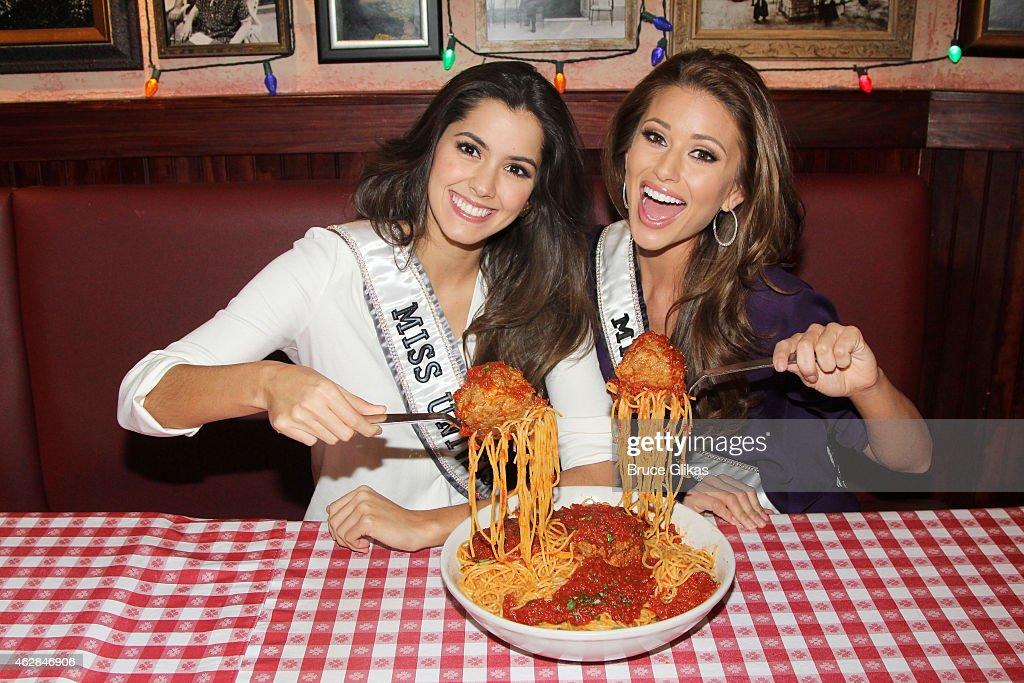 2015 Miss Universe Paulina Vega And 2014 Miss USA Nia Sanchez ...