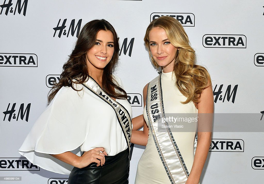 "Miss Universe And Miss USA Visit ""Extra"""