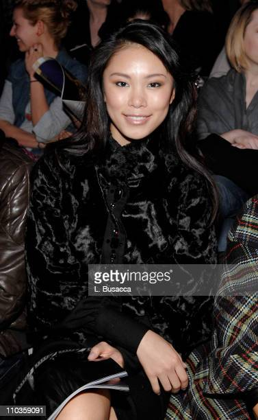 Miss Universe Riyo Mori attends Alexandre Herchcovitch Fall 2008 during MercedesBenz Fashion Week at the Tent Bryant Park on February 2 2008 in New...