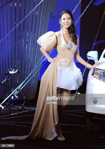 Miss Universe Riyo Mori attends the Lexus RX Museum Press Preview at the Lexus International Gallery on December 19 2008 in Tokyo Japan