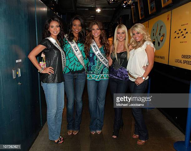Miss Universe Riyo Mori Miss USA Rachel Smith Miss Teen USA Hilary Cruz former Miss USA Tara Conner and former Miss Teen USA Katie Blair appear on...