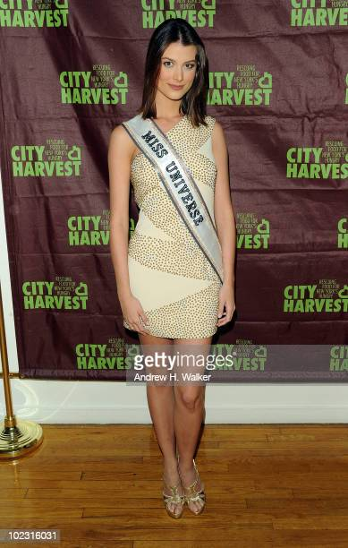 Miss Universe Stefania Fernandez attends City Harvest's Summer in the City restaurant tasting and cocktail party at Metropolitan Pavilion on June 22,...