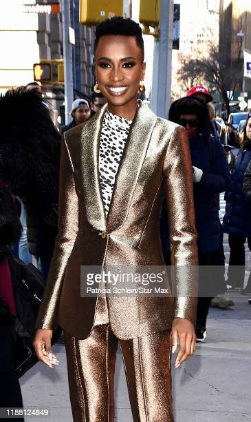 Miss Universe Zozibini Tunzi is seen on December 12 2019 in New York City