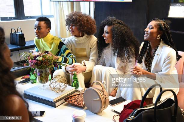 Miss Universe Zozibini Tunzi Miss Teen USA Kaliegh Garris Miss USA Cheslie Kryst and Miss America 2019 Nia Franklin attend New York Fashion Week The...