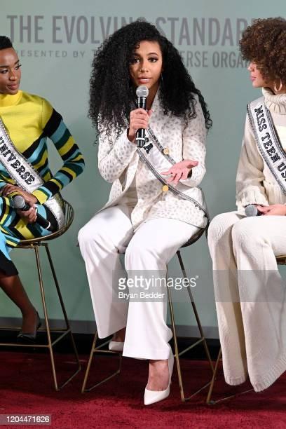 Miss Universe Zozibini Tunzi Miss USA Cheslie Kryst and Miss Teen USA Kaliegh Garris speak at NYFW The Talks The Evolving Standard of Beauty...