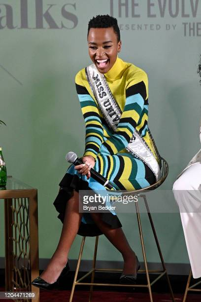 Miss Universe Zozibini Tunzi speaks at NYFW The Talks The Evolving Standard of Beauty presented by The Miss Universe Organization during New York...