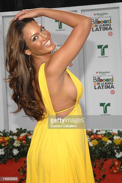Miss Universe Zuleyka Rivera attends the 2007 Billboard Latin Music Awards at the Bank United Center April 26 2007 in Coral Gables Florida