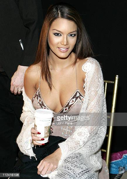 Miss Universe Zuleyka Rivera during MercedesBenz Fashion Week Fall 2007 Rolling with Style Gala Backstage at Cipriani in New York City New York...