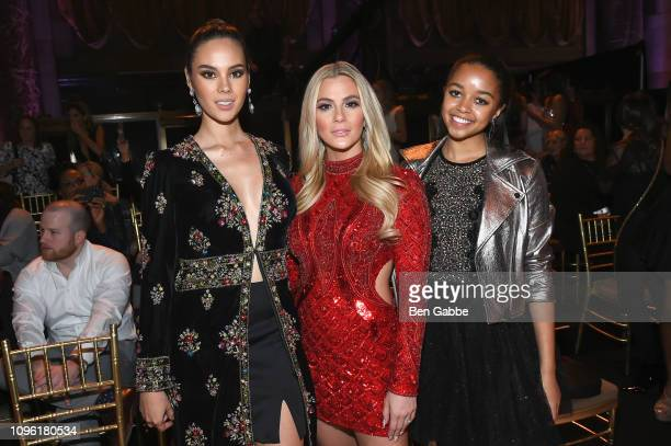 Miss Universere Catriona Gray Miss USA Sarah Rose Summers and Miss Teen USA Hailey Colborn attend the Sherri Hill Show during New York Fashion Week...