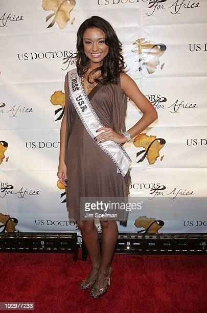 Miss USA 2007 Rachel Smith arrives at 1st Annual US Doctors for Africa New York Gala at Cipriani Wall Street on October 17 2007 in New York City