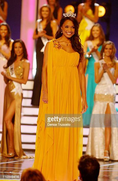 Miss USA 2007 Rachel Smith attends the 2008 Miss USA Competition at Planet Hollywood Resort Casino on April 11 2008 in Las Vegas Nevada