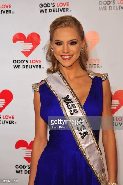Miss USA 2009 Kristen Dalton attends the 2009 Golden Heart awards at the IAC Building on October 19, 2009 in New York City.