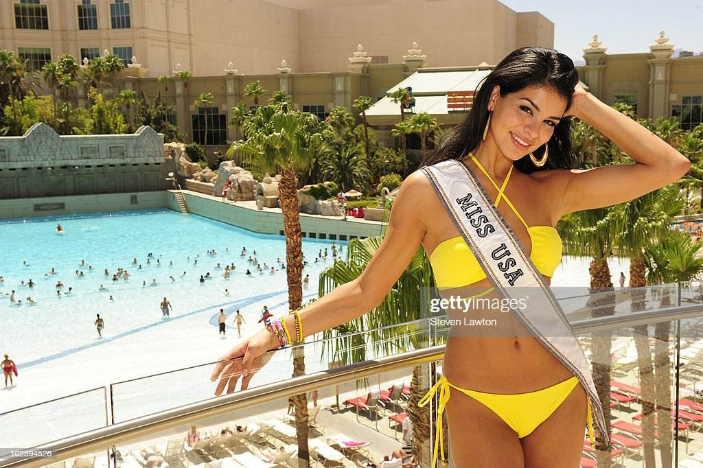 Miss USA 2010, Rima Fakih appears at the Mandalay Bay Beach on June 24, 2010 in Las Vegas, Nevada.