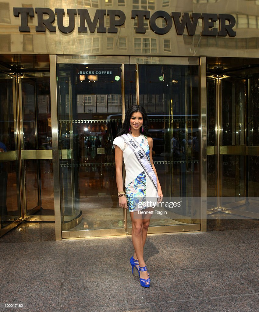 Miss USA 2010 Rima Fakih visits Donald Trump at Trump Tower on May 20, 2010 in New York, City.