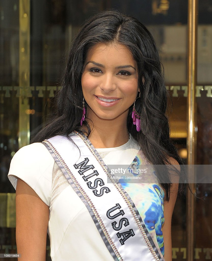 Miss USA 2010 Rima Fakih visits Trump Tower on May 20, 2010 in New York City.
