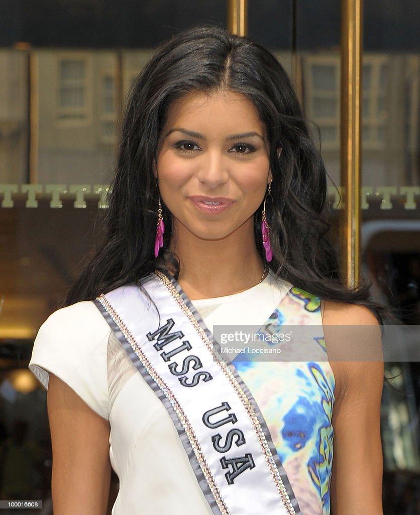 Donald Trump Greets Miss USA 2010 Rima Fakih