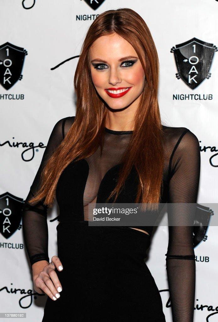Miss USA 2011 Alyssa Campanella arrives at the grand opening celebration at 1 Oak Las Vegas at The Mirage Hotel & Casino on January 28, 2012 in Las Vegas, Nevada.