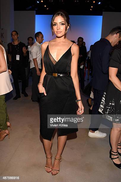 Miss USA 2012 Olivia Culpo attends the Supima Design Competition fashion show during Spring 2016 New York Fashion Week The Shows at The Gallery...