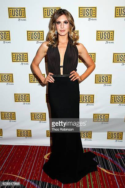 Miss USA 2013 Erin Brady attends the USO 75th Anniversary Armed Forces Gala Gold Medal Dinner at Marriott Marquis Times Square on December 13 2016 in...