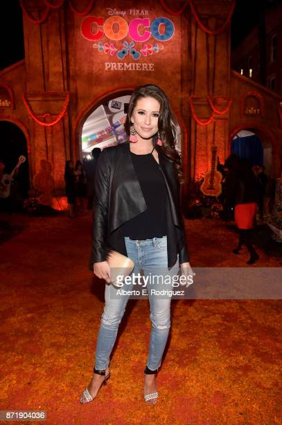 Miss USA 2014 Nia Sanchez at the US Premiere of DisneyPixar's 'Coco' at the El Capitan Theatre on November 8 in Hollywood California