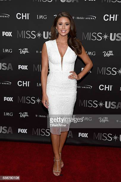 Miss USA 2014 Nia Sanchez attends the 2016 Miss USA pageant at TMobile Arena on June 5 2016 in Las Vegas Nevada