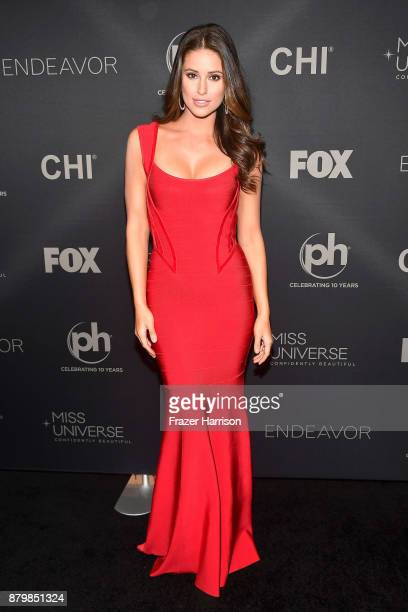 Miss USA 2014 Nia Sanchez attends the 2017 Miss Universe Pageant at Planet Hollywood Resort Casino on November 26 2017 in Las Vegas Nevada