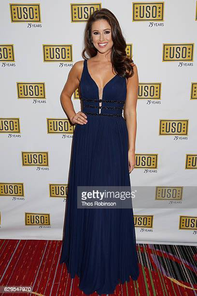 Miss USA 2014 Nia Sanchez attends the USO 75th Anniversary Armed Forces Gala Gold Medal Dinner at Marriott Marquis Times Square on December 13 2016...