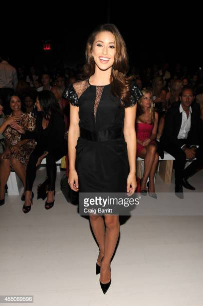 Miss USA 2014 Nia Sanchez attends the Zang Toi fashion show during MercedesBenz Fashion Week Spring 2015 at The Salon at Lincoln Center on September...