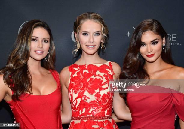 Miss USA 2014 Nia Sanchez Miss USA 2015 Olivia Jordan and Miss Universe 2015 and pageant judge Pia Alonzo Wurtzbach attend the 2017 Miss Universe...