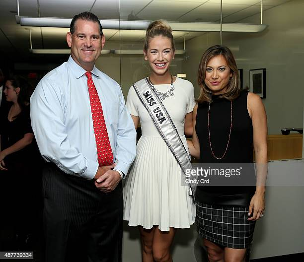 Miss USA 2015 Olivia Jordan and news anchor Ginger Lee attend the annual Charity Day hosted by Cantor Fitzgerald and BGC at Cantor Fitzgerald on...