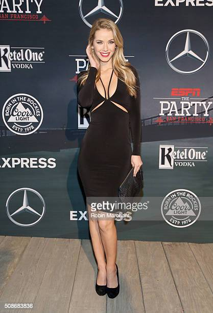Miss USA 2015 Olivia Jordan attends ESPN The Party on February 5, 2016 in San Francisco, California.