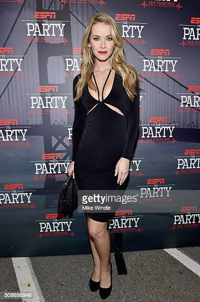 Miss USA 2015 Olivia Jordan attends ESPN The Party on February 5 2016 in San Francisco California