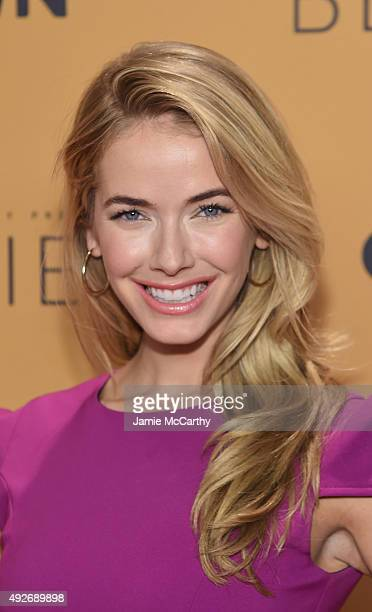 Miss USA 2015 Olivia Jordan attends the Belief New York premiere at TheTimesCenter on October 14 2015 in New York City