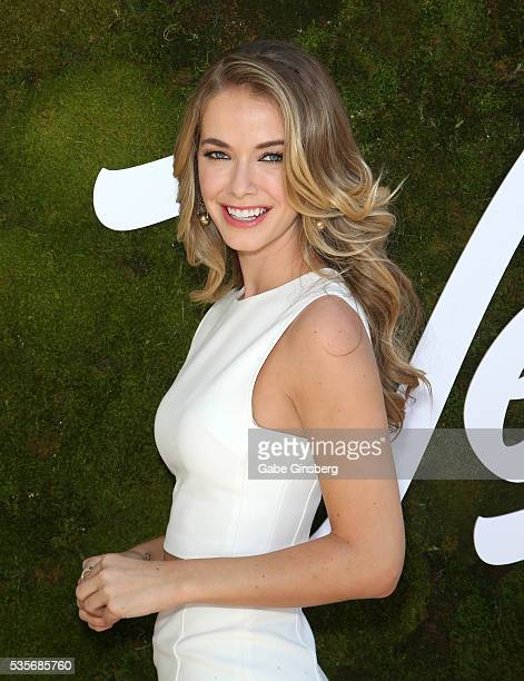 Miss USA 2015 Olivia Jordan attends the launch event for the Las Vegas official Snapchat channel at The Venetian Las Vegas on May 29 2016 in Las...