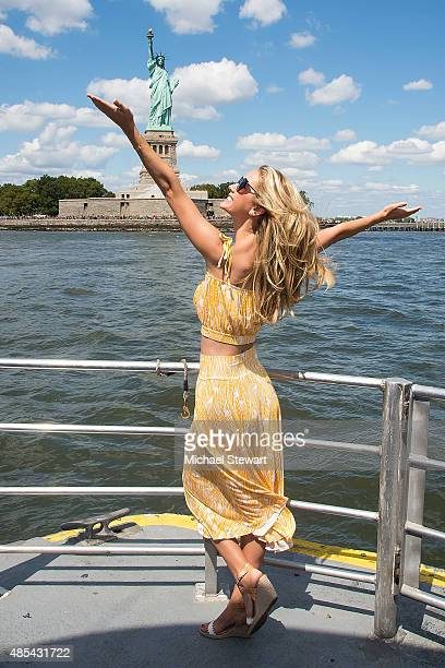 Miss USA 2015 Olivia Jordan attends the Ride of Fame City Sightseeing Cruise at Pier 78 on August 27, 2015 in New York City.