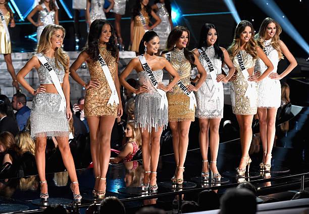 Miss USA 2015 Olivia Jordan Miss France 2015 Flora Coquerel Miss Philippines 2015 Pia Alonzo Wurtzbach Miss Dominican Republic 2015 Clarissa Molina...
