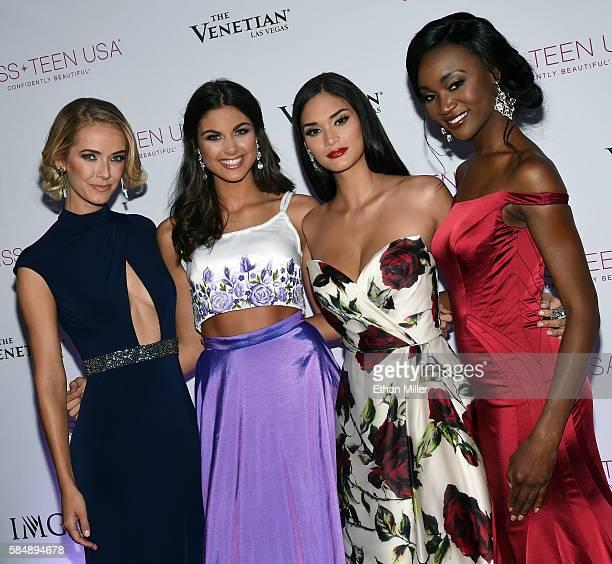 Miss USA 2015 Olivia Jordan Miss Teen USA 2015 Katherine Haik Miss Universe 2015 Pia Alonzo Wurtzbach and Miss USA 2016 Deshauna Barber attend the...
