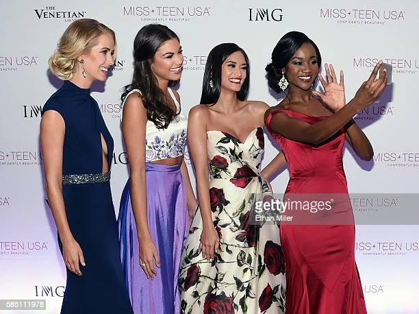 Miss USA 2015 Olivia Jordan Miss Teen USA 2015 Katherine Haik Miss Universe 2015 Pia Alonzo Wurtzbach and Miss USA 2016 Deshauna Barber send a...