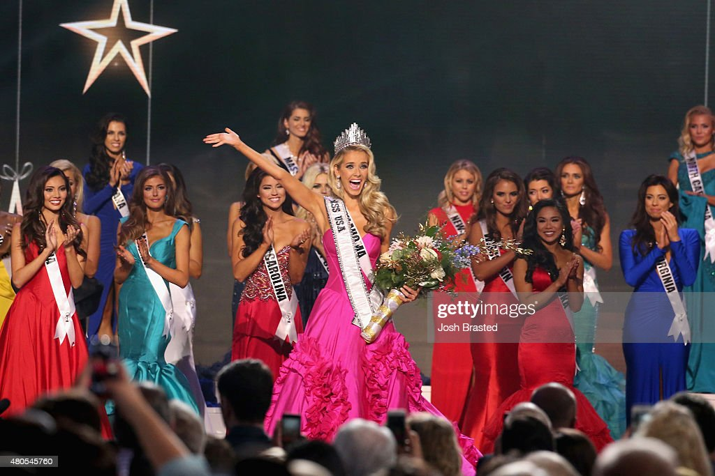 Miss USA 2015 Olivia Jordan Miss USA 2015 Olivia Jordan walks onstage at 2015 Miss USA Pageant Only On ReelzChannel at The Baton Rouge River Center on July 12, 2015 in Baton Rouge, Louisiana.