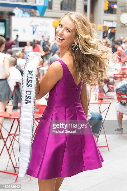 Miss USA 2015 Olivia Jordan seen on the streets of Manhattan on July 14 2015 in New York City