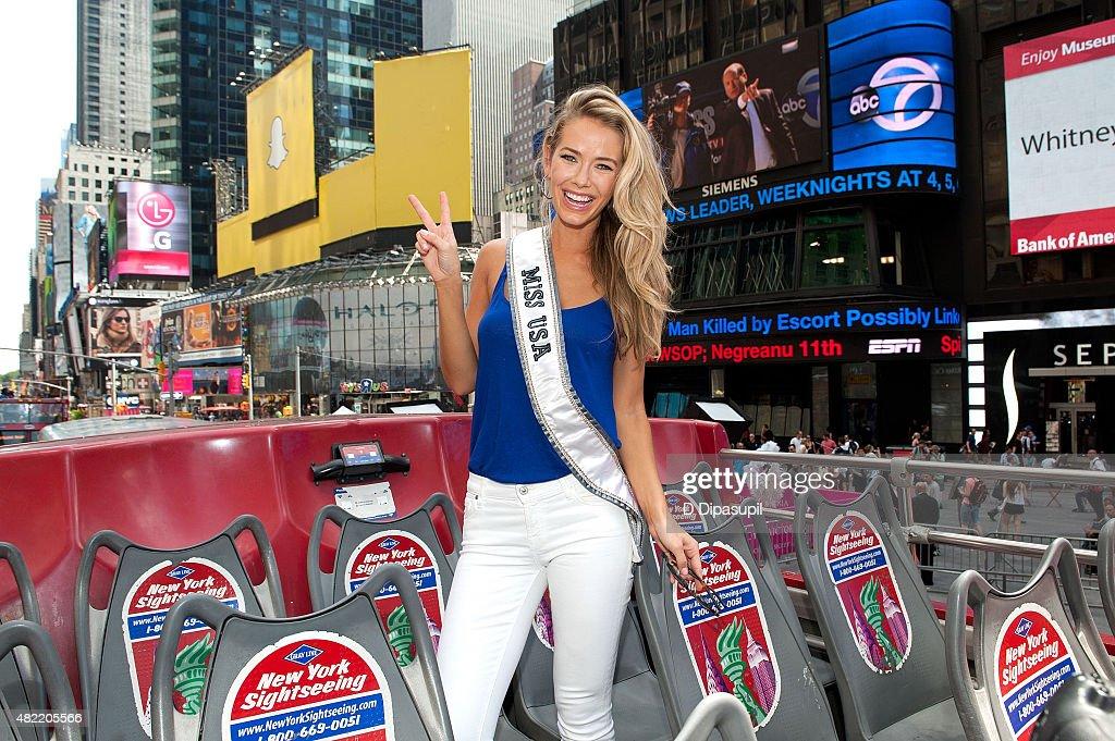 Miss USA 2015 Olivia Jordan Takes Gray Line CitySightseeing Tour